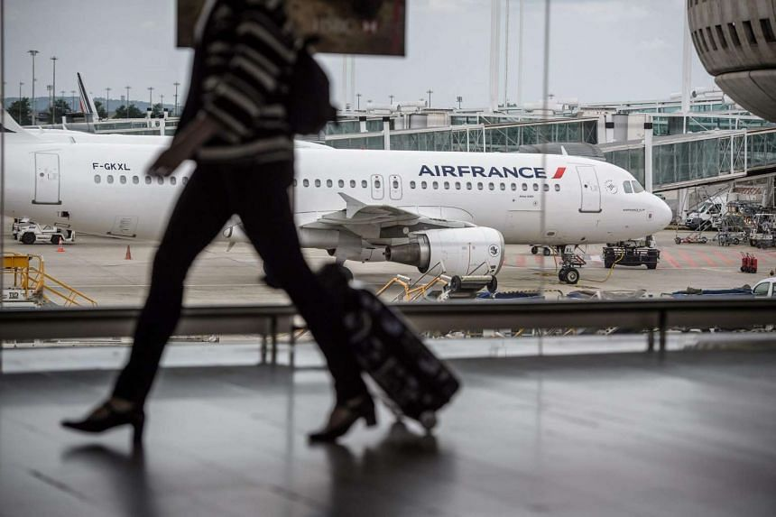 An Air France plane parked at the Charles de Gaulle International Airport in Roissy, France, on June 11.