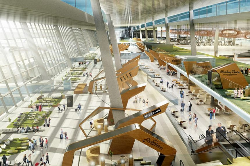 An artist's impression of the Soekarno-Hatta International Airport's Terminal 3 Ultimate.