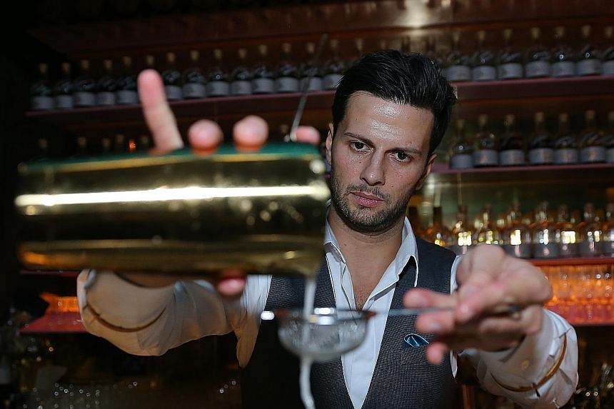 Bartender Dario Knox takes his cue from the creative Prohibition period when it comes to creating drinks.
