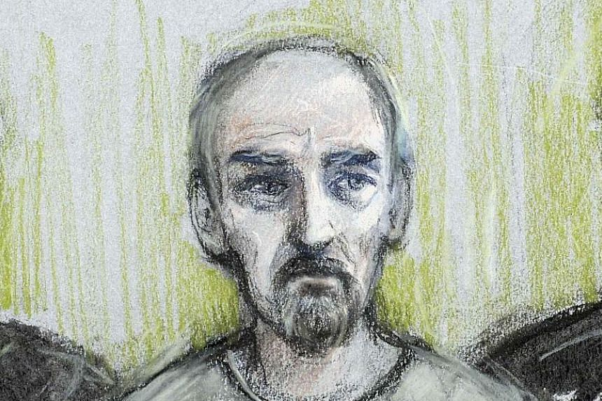 A court artist's sketch shows Mair appearing at London's Westminster Magistrates' Court yesterday.