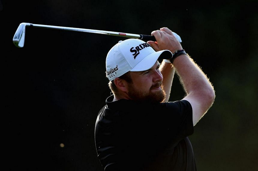 Shane Lowry plays his shot from the tenth tee during the third round of the US Open on June 18.
