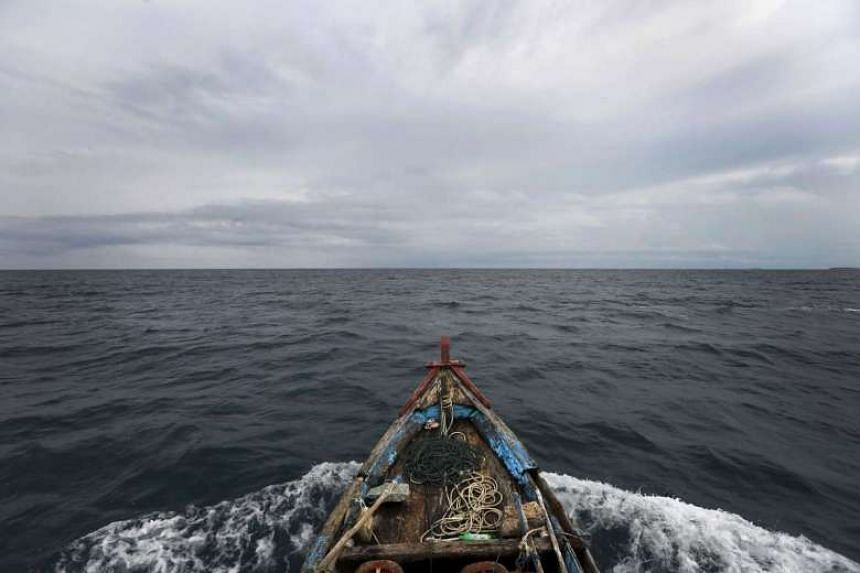 A Chinese vessel has been intercepted by the Indonesian Navy for fishing illegally in Indonesia's waters off the Natuna islands in the South China Sea.