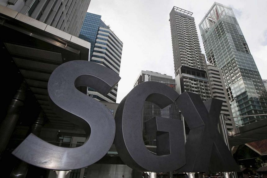 A Singapore Exchange (SGX) sign outside its premises at the central business district in Singapore, on Jan 18, 2016.
