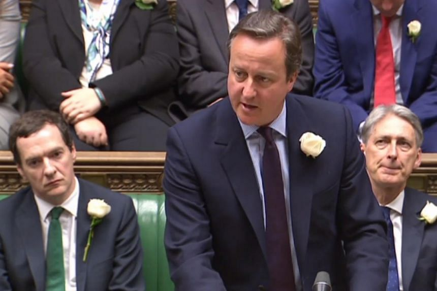 British Prime Minister David Cameron speaking in parliament in a special session to pay tribute to MP Jo Cox on June 20, 2016 in London.