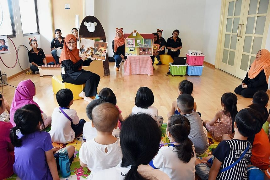 The playroom, set up by the North East Community Development Council (CDC) and Cerebral Palsy Alliance Singapore (CPAS), is believed to be the first integrated toy library in Singapore, and is the fourth toy library in the district. It is open daily