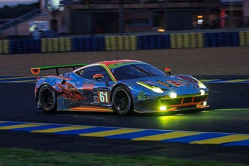 The Clearwater Racing car, a Ferrari 458 GTE, suffered an engine misfire and a loss of pace after the team were in third place 18 hours into the 24-hour Le Mans race yesterday.