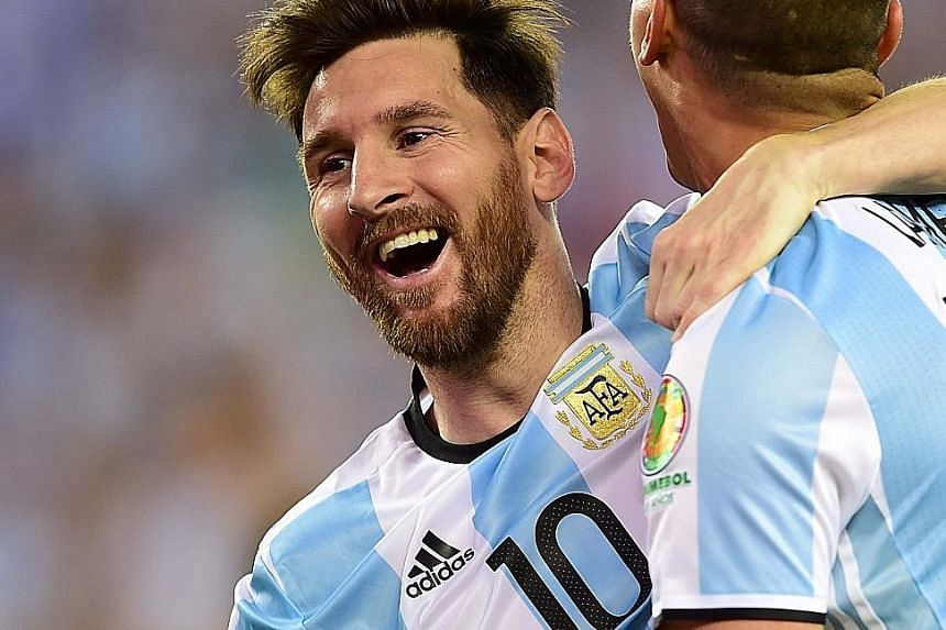 Lionel Messi tied Gabriel Batistuta's national goal record with his strike against Venezuela. The Argentina ace will hope to equal the former national striker on another count by winning the Copa America.