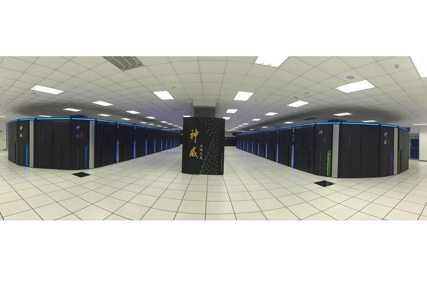 The Sunway TaihuLight supercomputer, located at the state-owned Chinese Supercomputing Center in Wuxi, Jiangsu province.