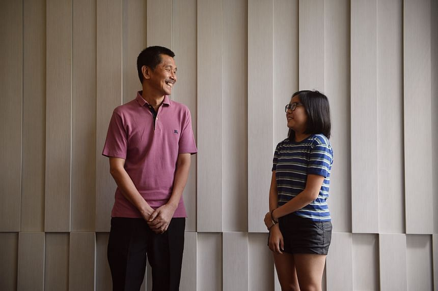 Mr Lim Kok Seng (left) donated his liver to 16-year-old Lim Si Jia, who was diagnosed with glycogen storage disease when she was 8.