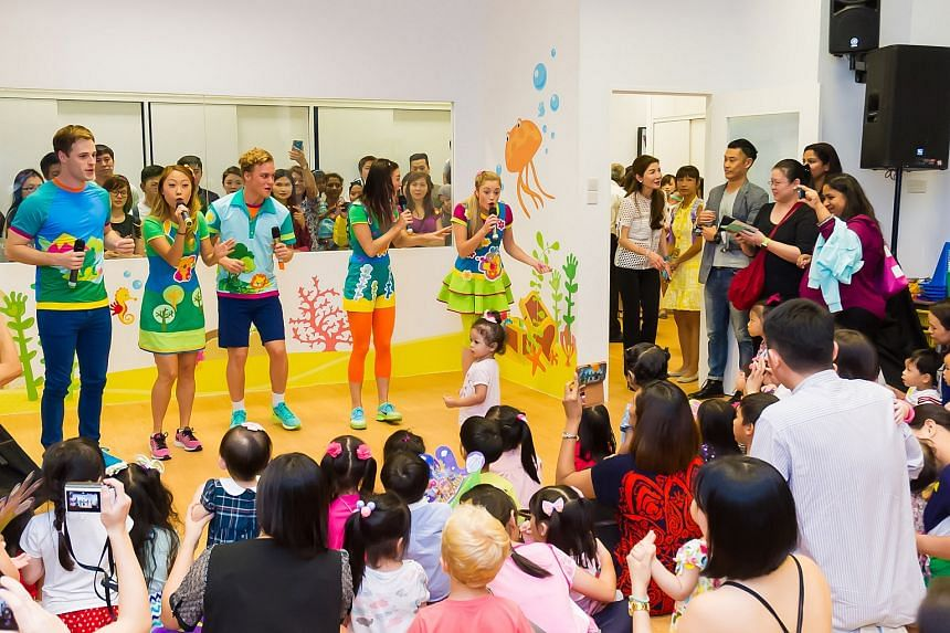 The cast of Hi-5 making a special appearance to engage with parents and children at the opening of the House Of Learning.