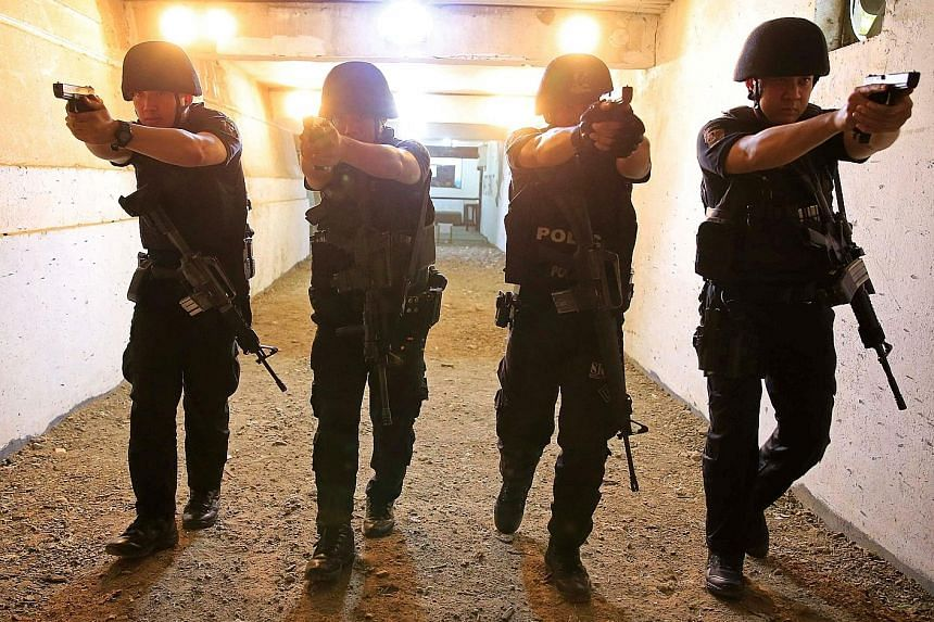 Members of the Philippine National Police Special Reactions Unit at a training session in Manila last month. President-elect Rodrigo Duterte, who takes office on Thursday next week, has repeatedly reassured police that they would have his full suppor