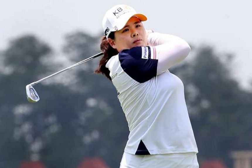 Park In Bee in action during the first round of the 2016 HSBC Women's Championship, on March 3, 2016.