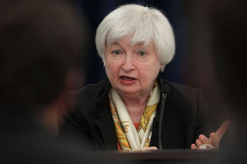 Janet Yellen speaks during a news conference on June 15, 2016, in Washington, DC.
