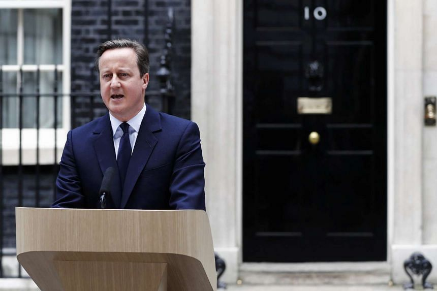 Britain's Prime Minister David Cameron speaks about the EU referendum outside 10 Downing Street in London, on June 21, 2016.