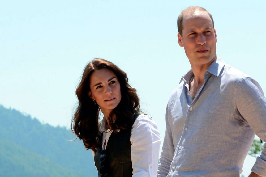 Britain's Prince William and his wife Catherine visiting Bhutan in April 2016.