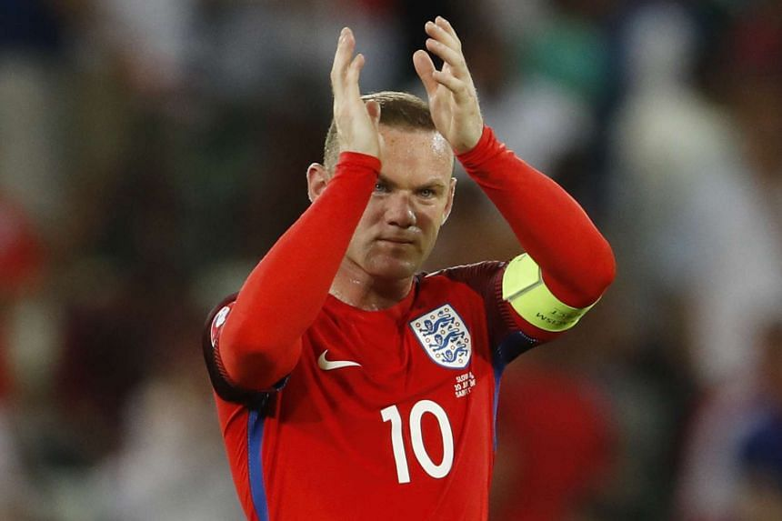 England's Wayne Rooney reacts at full time.