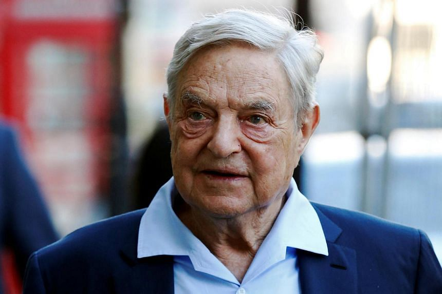 Business magnate George Soros arriving to speak at the Open Russia Club in London on June 20.