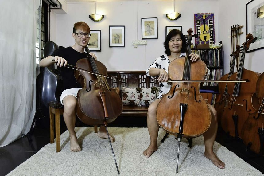 Cello instructor Hughes Chong played Madam Jazz Wong recordings of her favourite songs while she was in a coma.