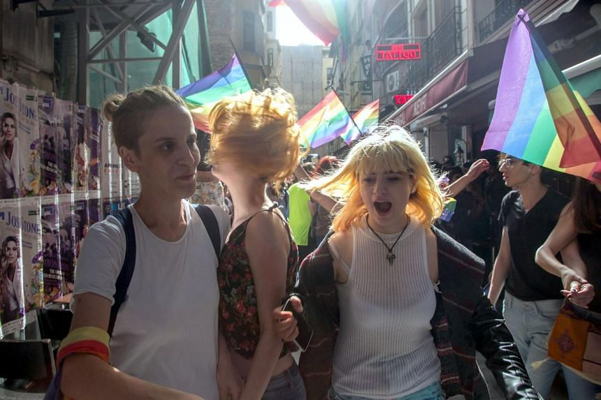 """The suspects arrested after a tip-off that they were plotting to attack the """"Trans Pride"""" rally on June 19."""