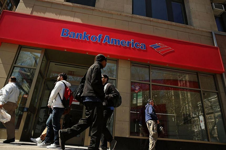 A Bank of America branch in lower Manhattan, New York.