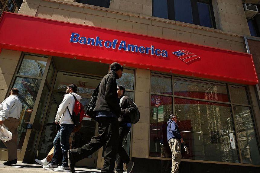 A Bank of America branch in lower Manhattan, New York.