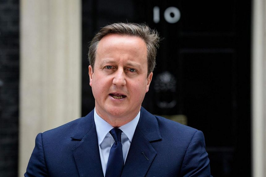British Prime Minister David Cameron speaking to the press in front of 10 Downing street in London on June 21.