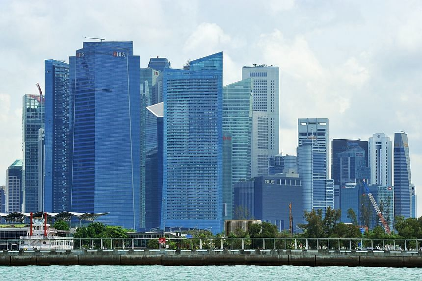 Singapore's Central Business District and Marina Bay Financial Centre.