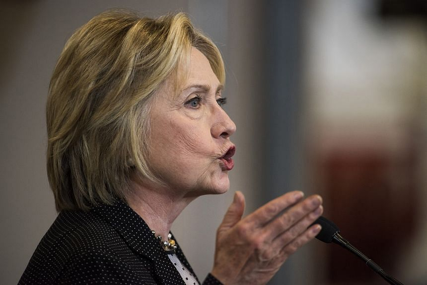 Hillary Clinton speaking at a campaign event in Columbus, Ohio, on June 21.