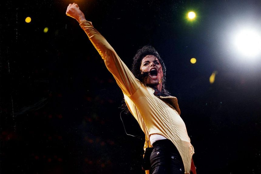 Michael Jackson during his performance in Singapore in 1993.