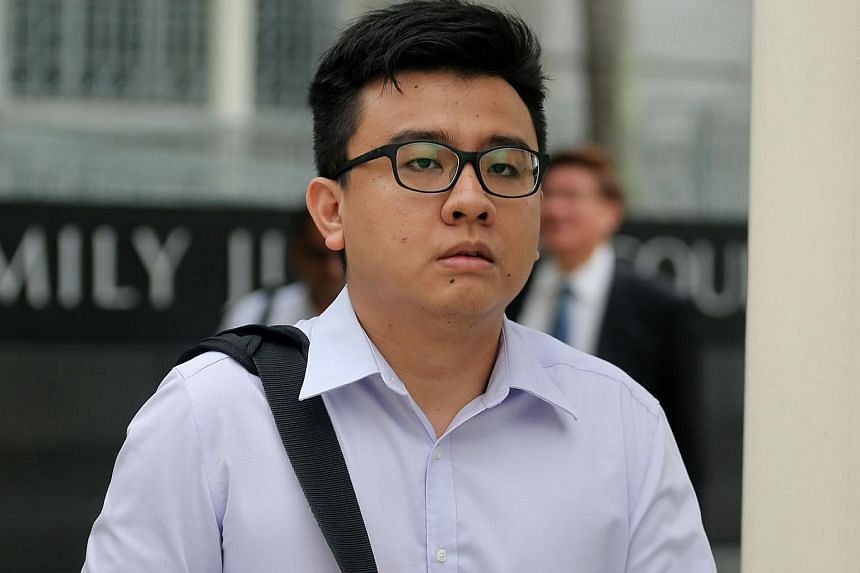 Yang Kaiheng arriving at the State Courts on April 5.
