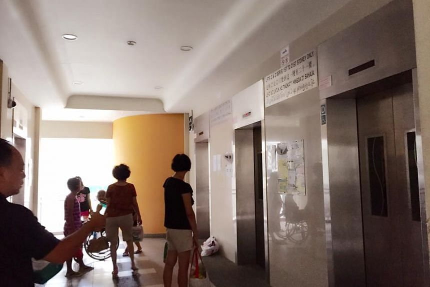 All four lifts went down in Dover Crescent HDB block earlier this afternoon.