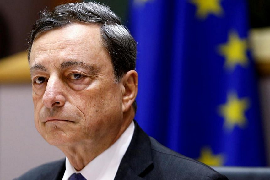 European Central Bank (ECB) President Mario Draghi waits to address the European Parliament's Economic and Monetary Affairs Committee on June 21.