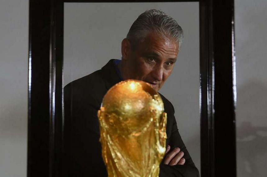 Tite at the Museum of Football at the Brazilian Football Confederation headquarters in Rio, after being named the new national coach. He had turned down the chance to coach the Olympic squad to focus on World Cup qualification.