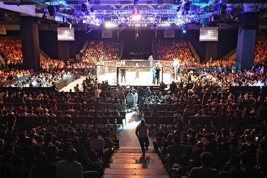 A packed venue at Marina Bay Sands for the UFC Fight Night 34 on Jan 4, 2014.