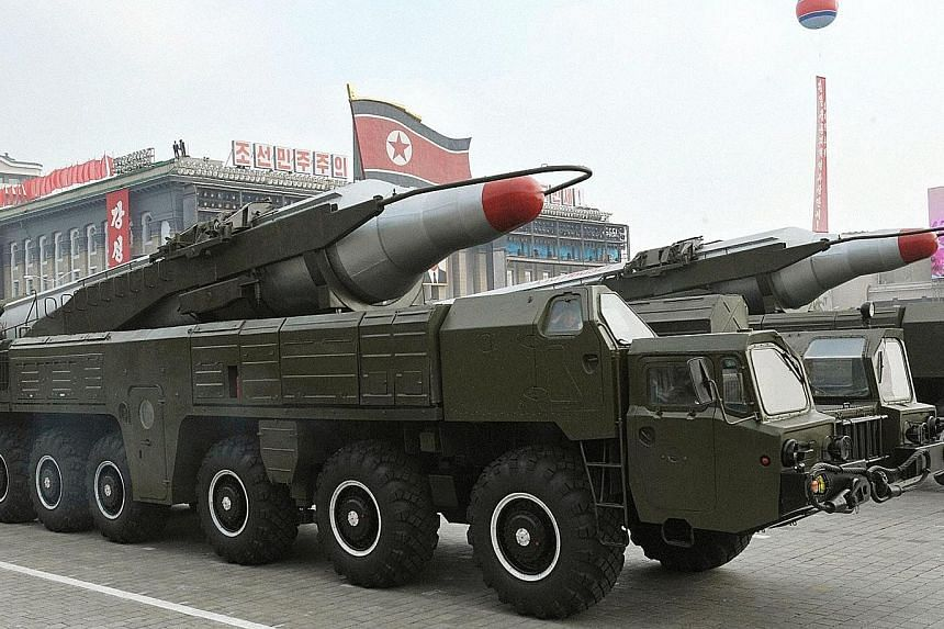 North Korea's Musudan missiles on show during a 2010 military parade. Pyongyang has deployed some 50 Musudan missiles since 2007, but started test-firing them only this year.