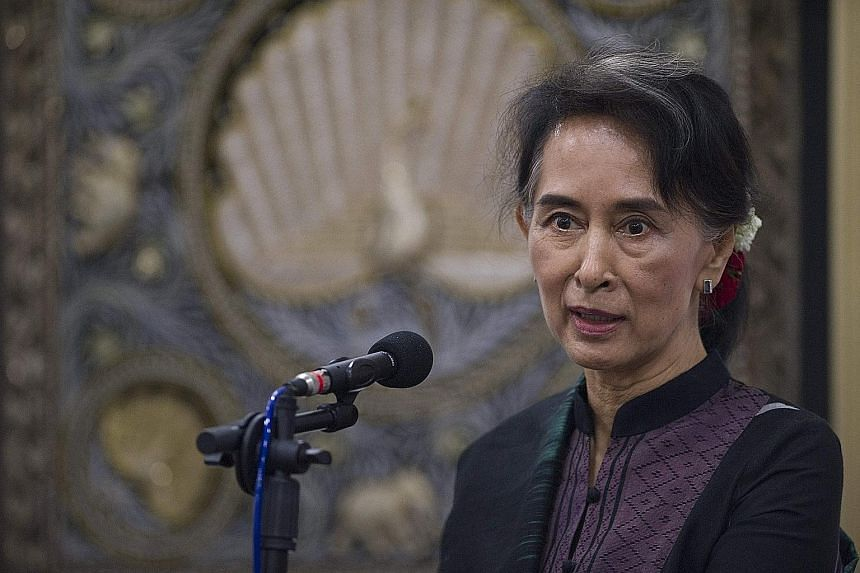 Myanmar, now governed by Ms Suu Kyi's National League for Democracy, is emerging from half a century of military rule.