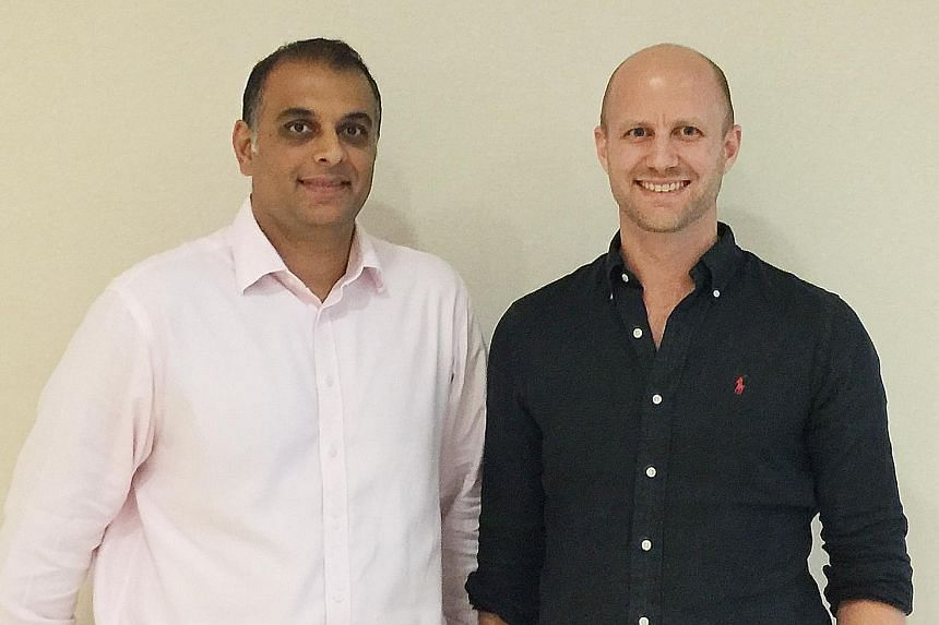 Dymon Asia Ventures' partner Jinesh Patel and principal investment executive Christian Kaptein.