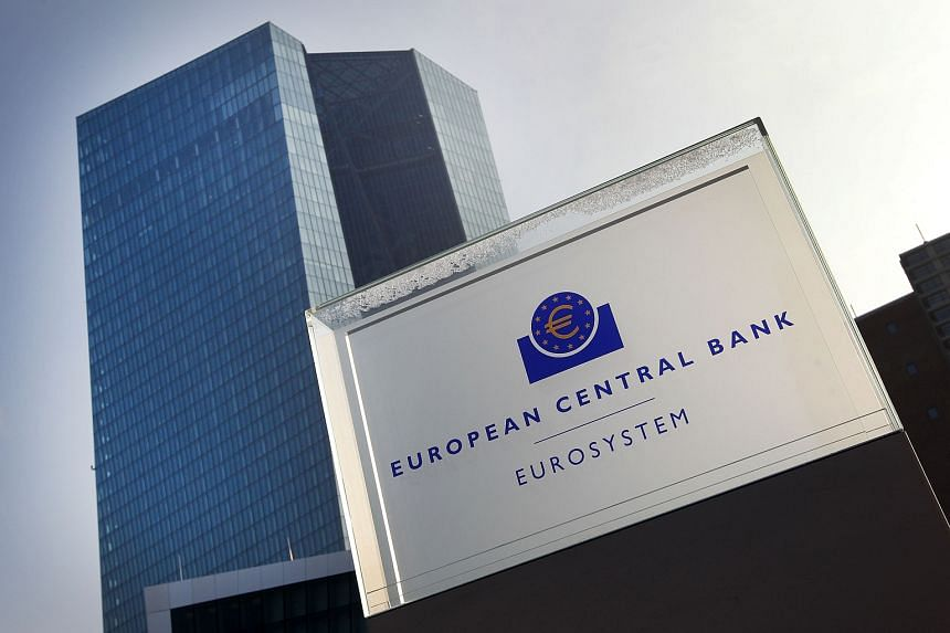 The headquarters of the European Central Bank (ECB) in Frankfurt.