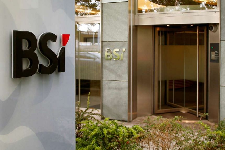 The logo of Swiss bank BSI is seen at a branch office in Zurich, Switzerland, on May 24, 2016.