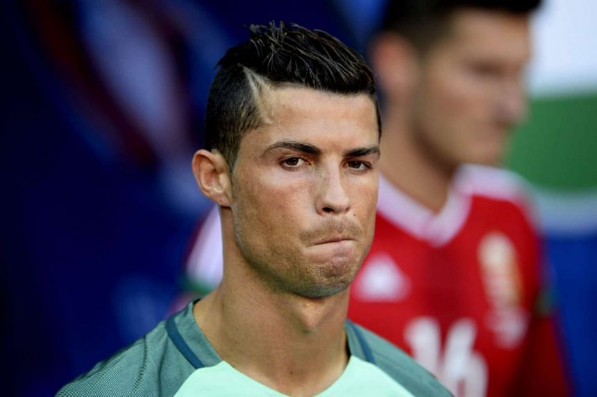 Ronaldo prior the Euro 2016 group F preliminary round match between Hungary and Portugal  on June 22, 2016.