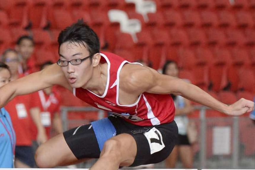 National race walker Edmund Sim is likely to be Singapore's wild card entrant for the Olympics in August. Hurdler Ang Chen Xiang (above) is next in the pecking order, according to Singapore Athletics' selection criteria prioritising national record-breake