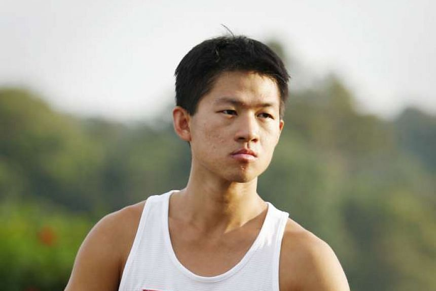 National race walker Edmund Sim (above) is likely to be Singapore's wild card entrant for the Olympics in August. Hurdler Ang Chen Xiang is next in the pecking order, according to Singapore Athletics' selection criteria prioritising national record-br
