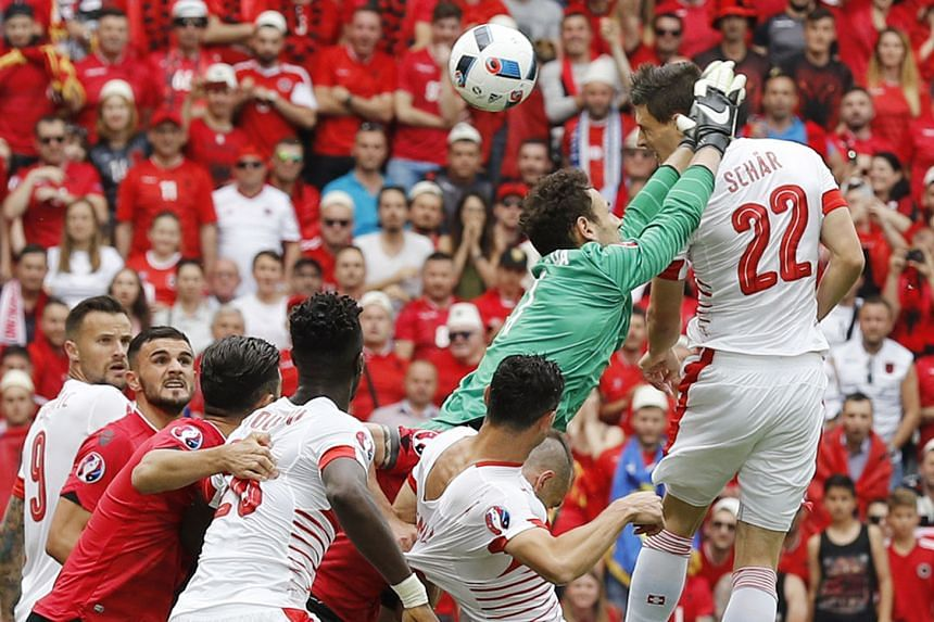 Switzerland's Fabian Schar rising high to head his side into the lead against Albania. The defender's goal is a rare success from a corner at Euro 2016, with teams rarely converting the set pieces into meaningful efforts on goal.