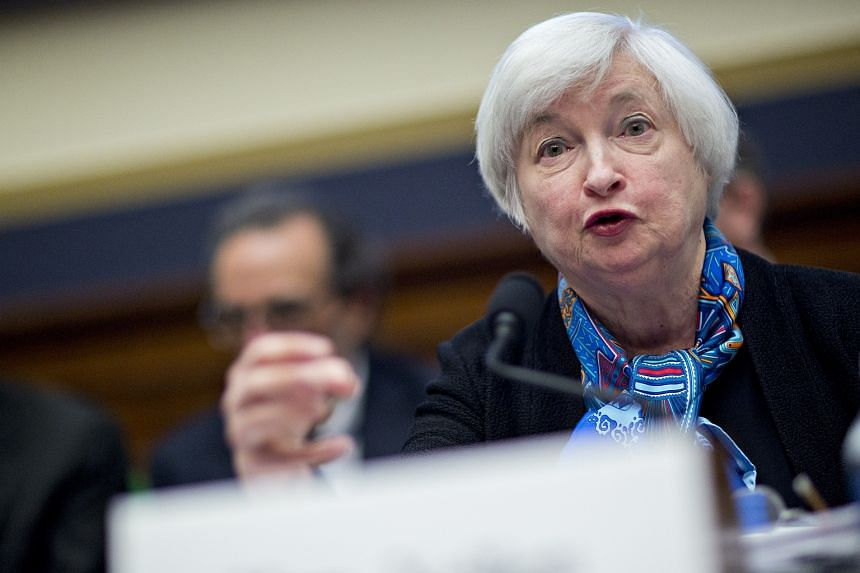 Janet Yellen, chair of the US Federal Reserve, speaks during a House Financial Services Committee hearing in Washington, DC.