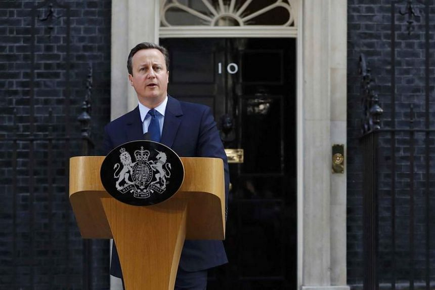 British Prime Minister David Cameron will step down by October.