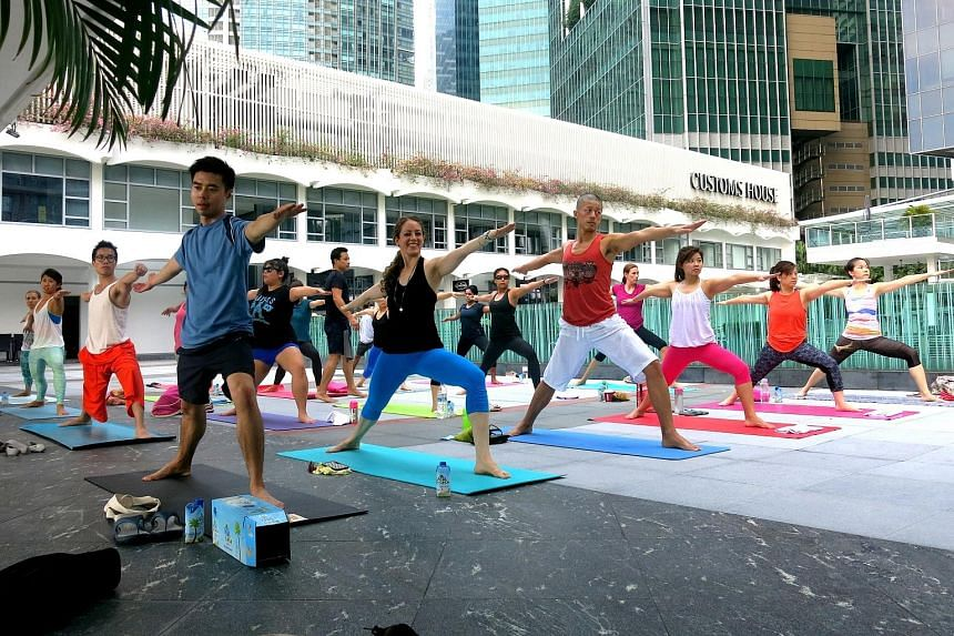 Yoga collective Outta Hatha does not have a physical studio and holds its sessions at the Customs House Terrace.
