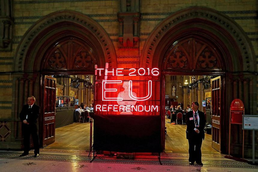 Manchester Town Hall, the setting for the national count in the EU referendum.