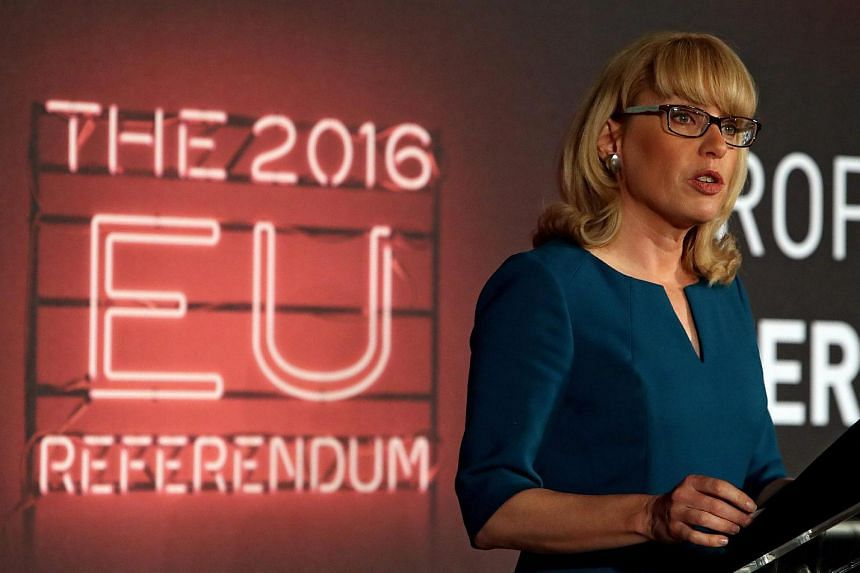 EU Referendum chief counting officer Jenny Watson announcing that polling has closed at Manchester Town Hall on June 23, 2016.
