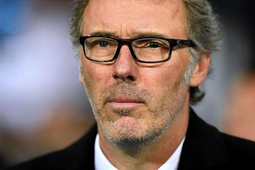 Paris Saint-Germain coach Laurent Blanc.