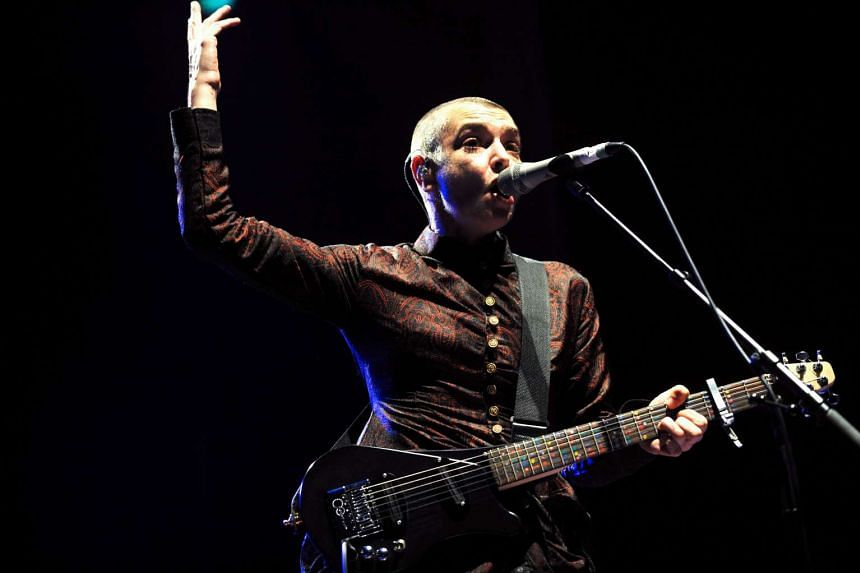 Irish singer Sinead O'Connor performs in Lorient during the Inter-Celtic Festival of Lorient, on August 10, 2013.